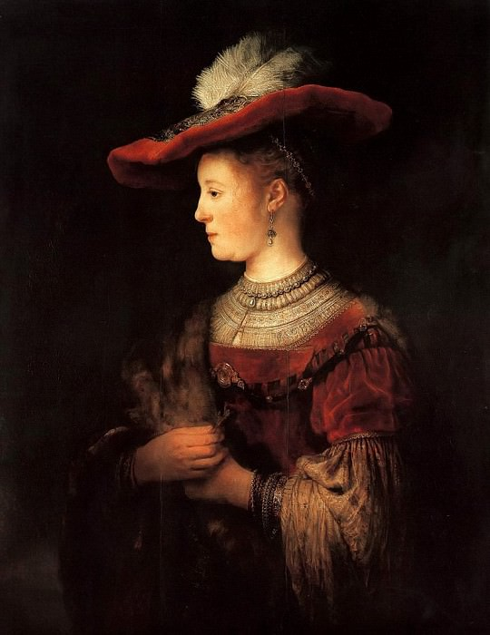 Portrait of Saskia. Rembrandt Harmenszoon Van Rijn