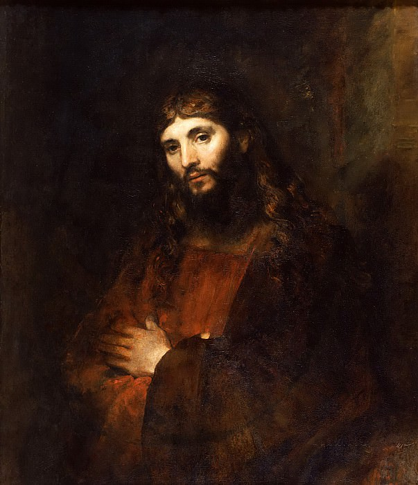 Christ with Arms Folded. Rembrandt Harmenszoon Van Rijn