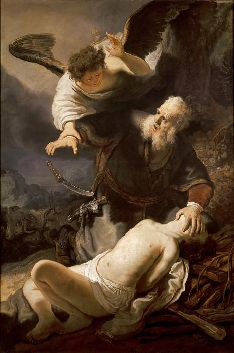 Жертвоприношение Исаака (приписывается). Рембрандт Харменс ван Рейн