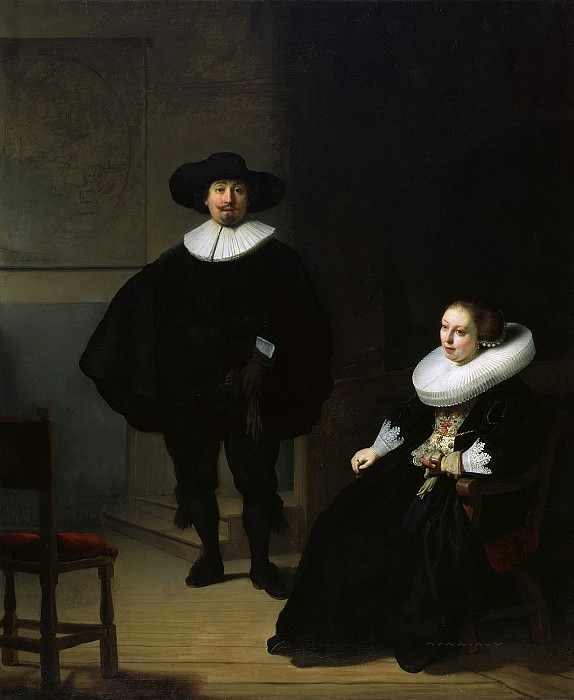 A Lady and Gentleman in Black. Rembrandt Harmenszoon Van Rijn