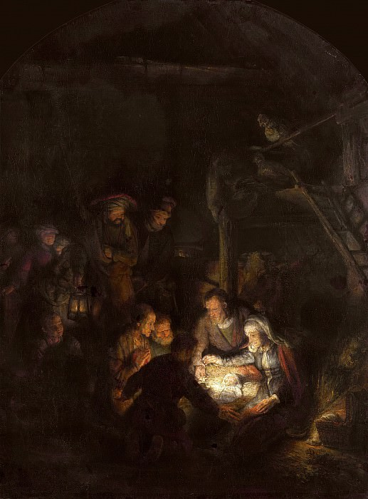 Adoration of the Shepherds. Rembrandt Harmenszoon Van Rijn