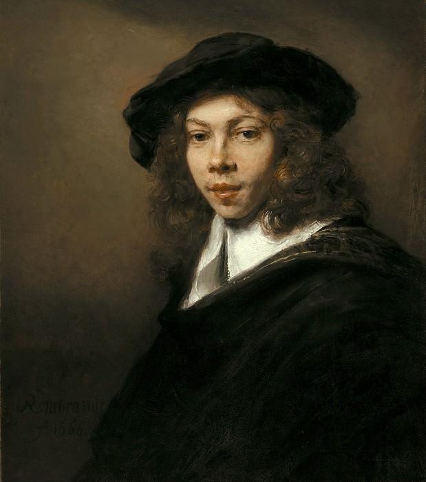 Портрет юноши в черном берете. Рембрандт Харменс ван Рейн