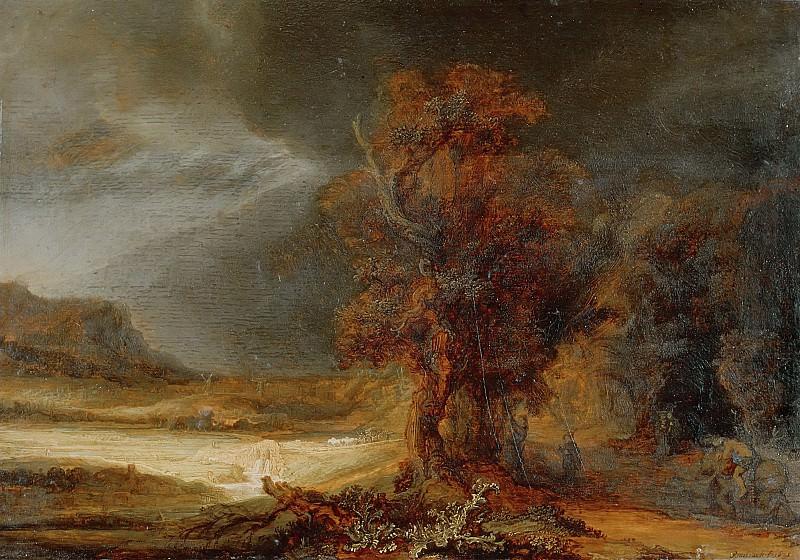 Пейзаж с добрым самаритянином. Рембрандт Харменс ван Рейн