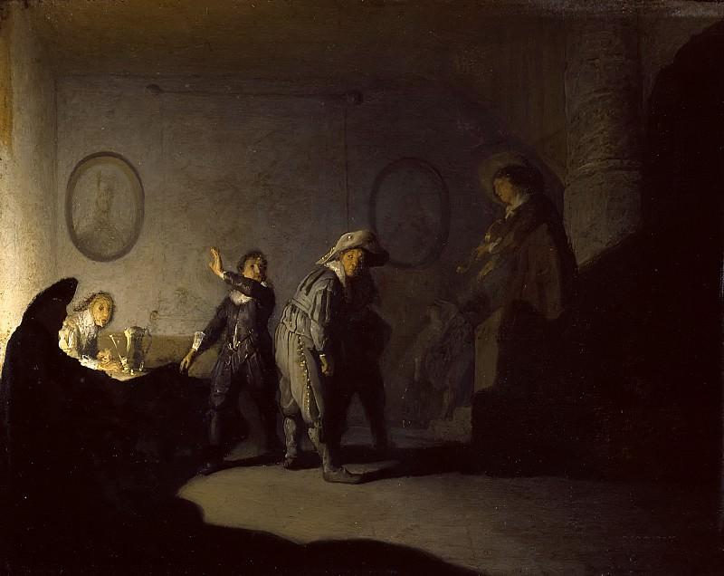 Interior with figures. Rembrandt Harmenszoon Van Rijn