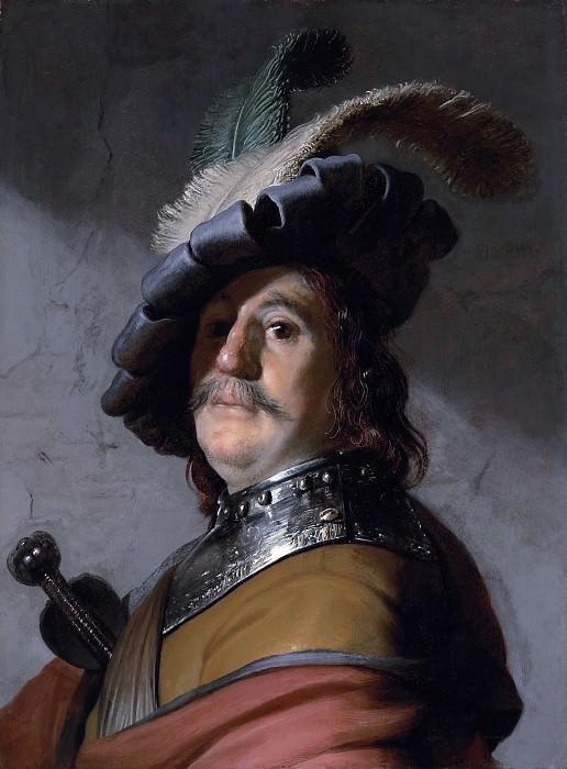 A man in a gorget and cap. Rembrandt Harmenszoon Van Rijn