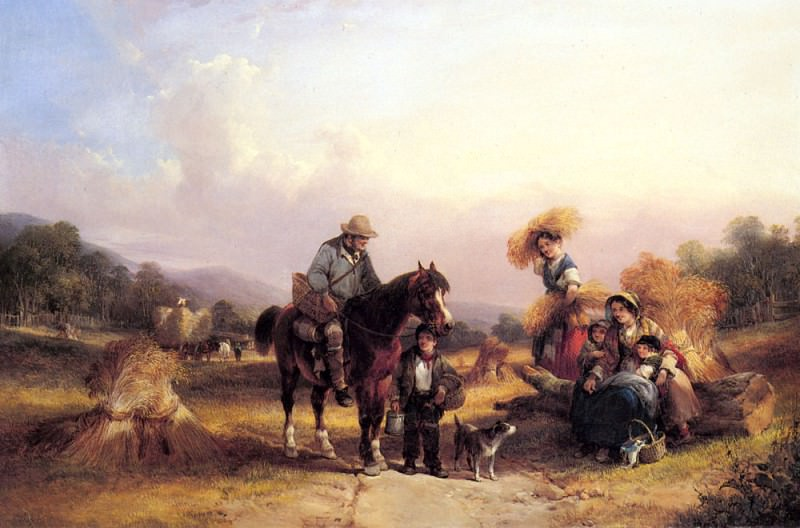 Shayer Sr William Harvesters Resting. Уильям Шайер