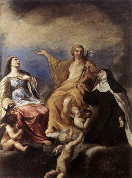 SACCHI Andrea The Three Magdalenes. Андреа Сакки