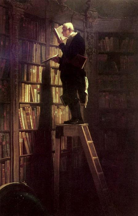 The Bookworm. Carl Spitzweg