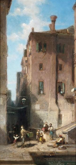 Street in Venice. Carl Spitzweg
