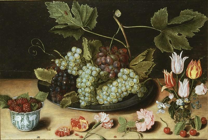 Натюрморт с фруктами и цветами. Ян Соро (Приписывается)