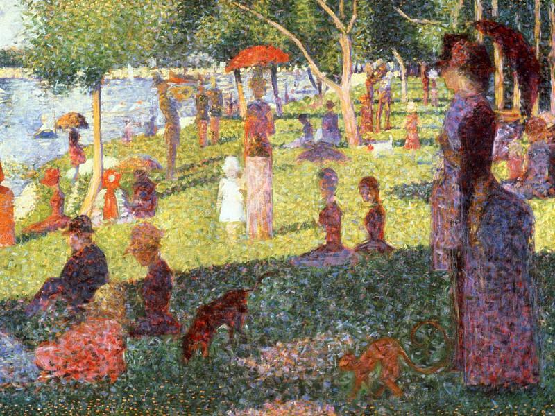 Sunday Afternoon on the Isle of Lan Grande Jatte, Seurat, (S. Georges Seurat