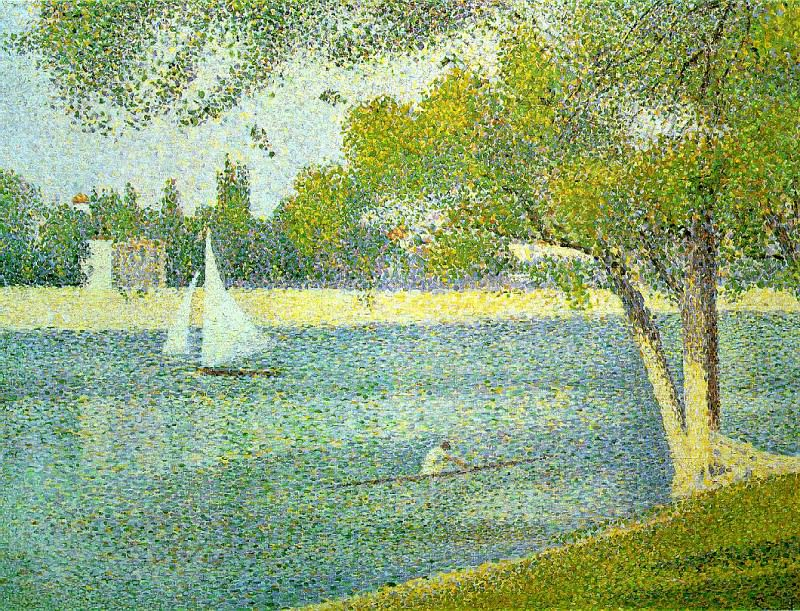 Seurat The Seine at Le Grande Jatte, 1888. Georges Seurat