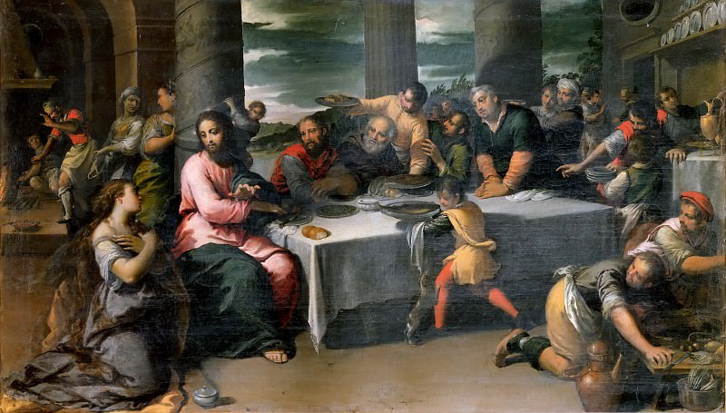 Supper in the House of Simon the Pharisee. Scarsellino (Ippolito Scarsella)