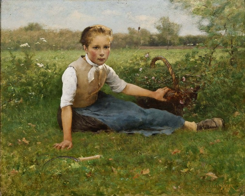 Picking Flowers. Hugo Federick Salmson
