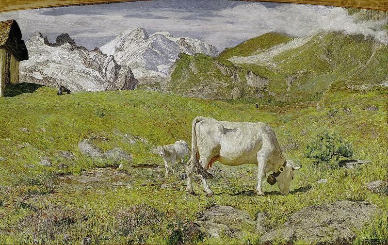 Pasture in spring. Giovanni Segantini