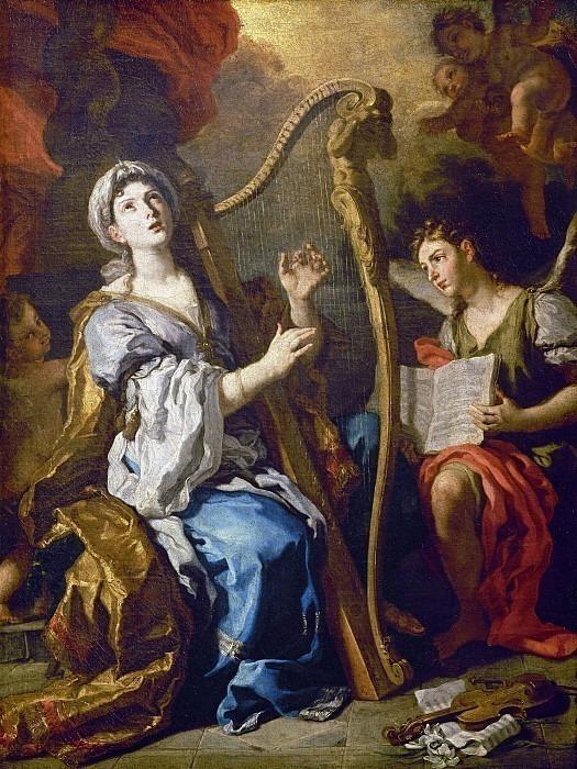 Святая Сесилия и ангел. Франческо Солимена