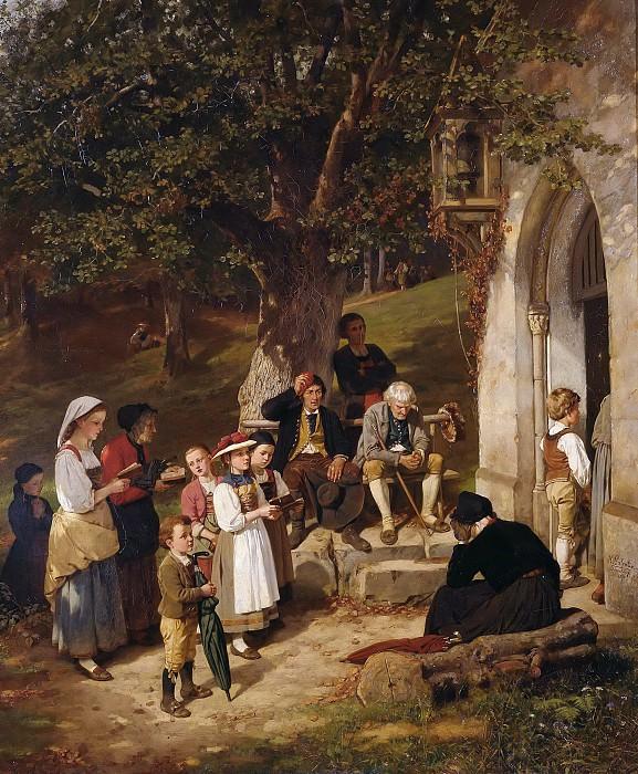 Pilgrims to the chapel. Hubert Salentin