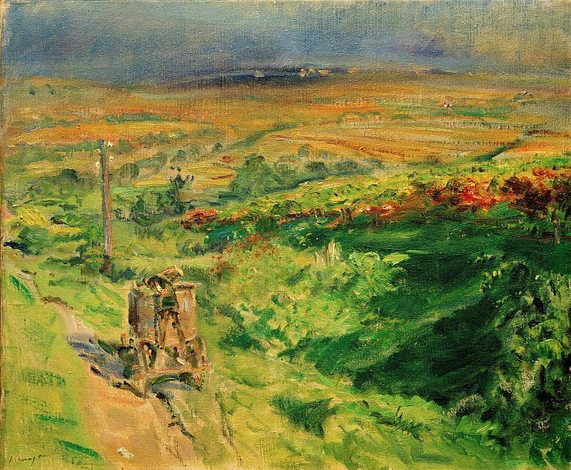Pfalz landscape with vineyards. Max Slevogt