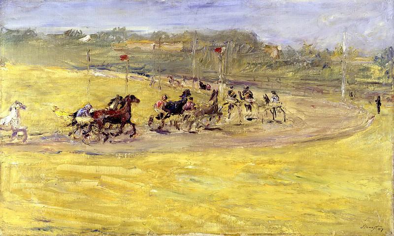 Harness racing. Max Slevogt