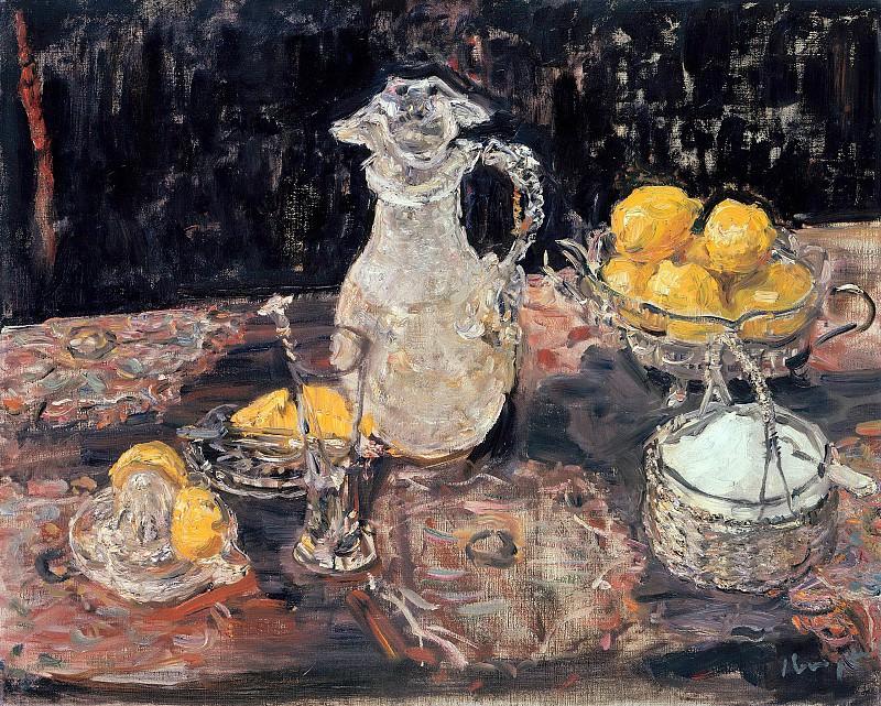 Натюрморт с лимонами. Макс Слефогт