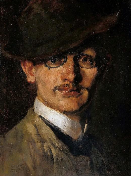 Self-portrait. Max Slevogt