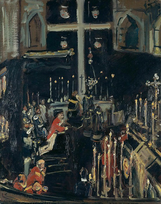 Requiem Mass of Saint George. Max Slevogt