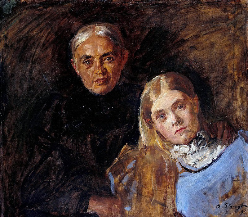 Frau Voll with her daughter. Max Slevogt