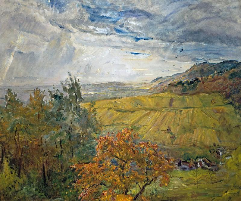 Autumn landscape at Neukastel. Max Slevogt