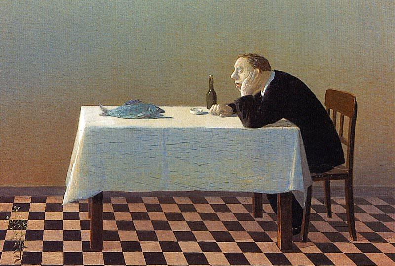 Sowa, Michael - Man, Table, Fish (end. Michael Sowa