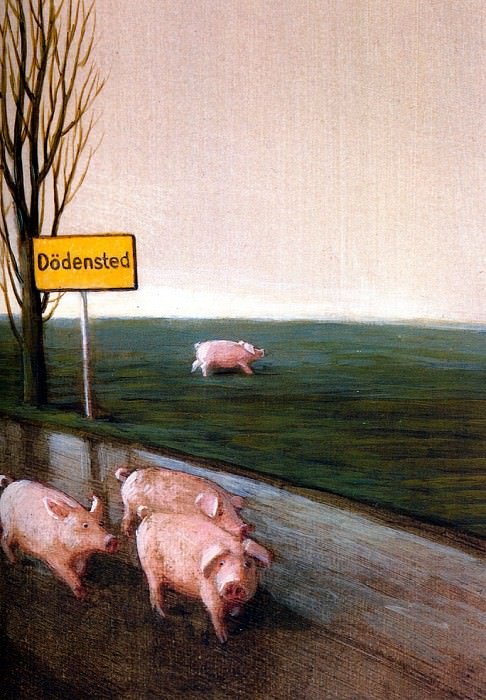 Sa18 We Want No Pigs in Dodensted MichaelSowa sqs. Michael Sowa ( R )