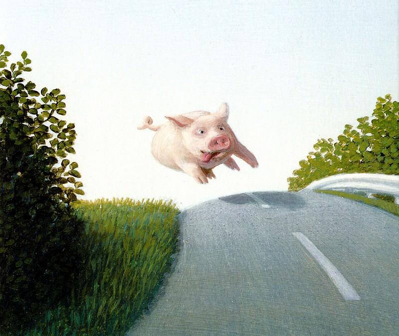 Sa19 Reckless Highway Pig MichaelSowa sqs. Michael Sowa ( Detail )