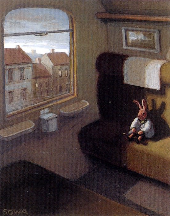 Sa31 Rabbit on a Train MichaelSowa sqs. Michael Sowa