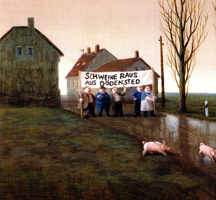 Sa17 We Want No Pigs in Dodensted MichaelSowa sqs. Михаэль Сова ( L )