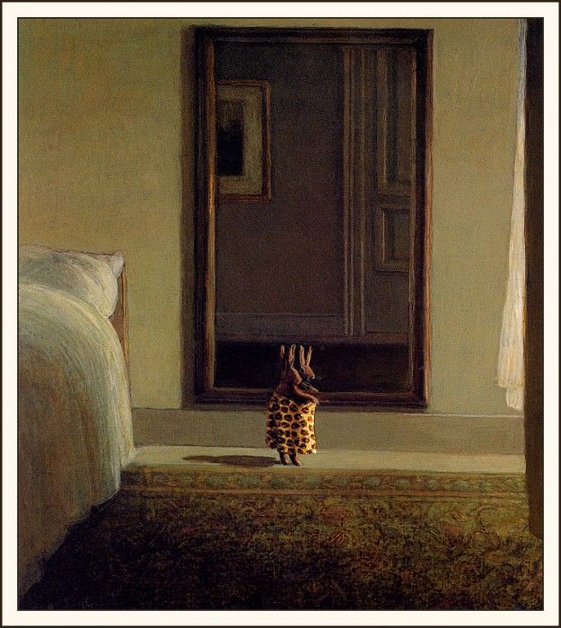 bs-ahp- Michael Sowa- Rabbit In Front Of The Mirror. Michael Sowa