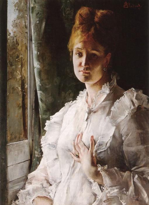 Портрет женщины в белом. Альфред Стевенс