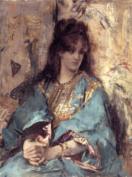 Stevens A Woman Seated in Oriental Dress. Альфред Стевенс