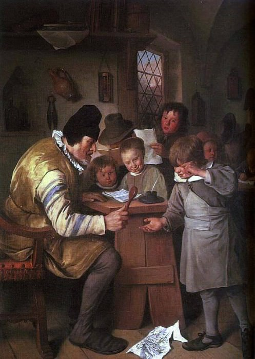 Steen The Schoolmaster, 1663-65, oil on canvas, National Gal. Jan Havicksz Steen