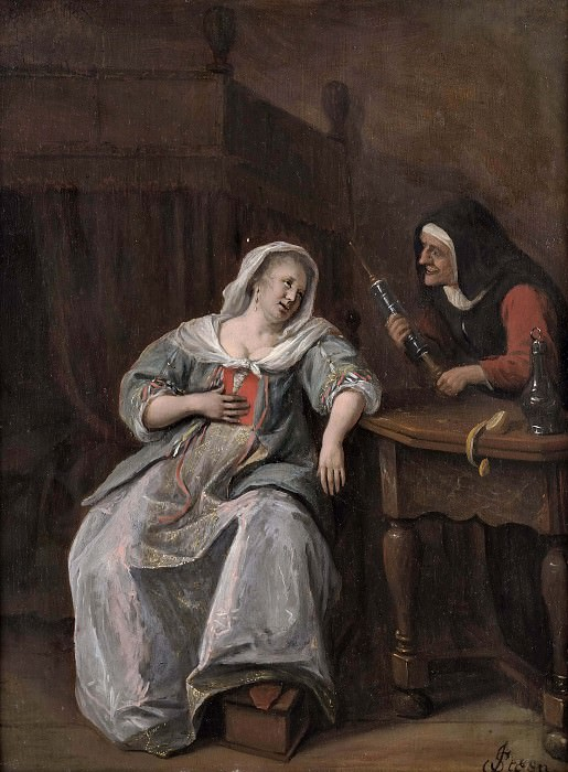 The Sick Woman. Jan Havicksz Steen