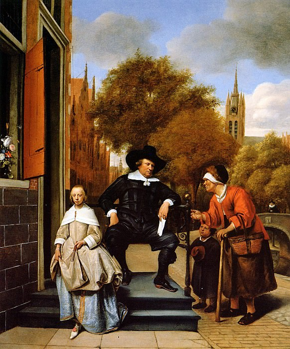 Steen Jan The Mayor of Delft and his daughter Sun. Jan Havicksz Steen