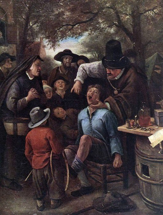 STEEN Jan The Quackdoctor. Jan Havicksz Steen