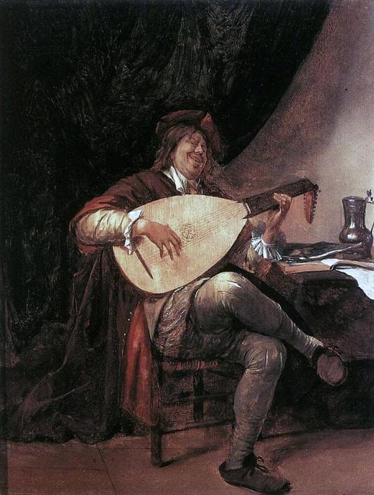 STEEN Jan Self Portrait As A Lutenist. Jan Havicksz Steen