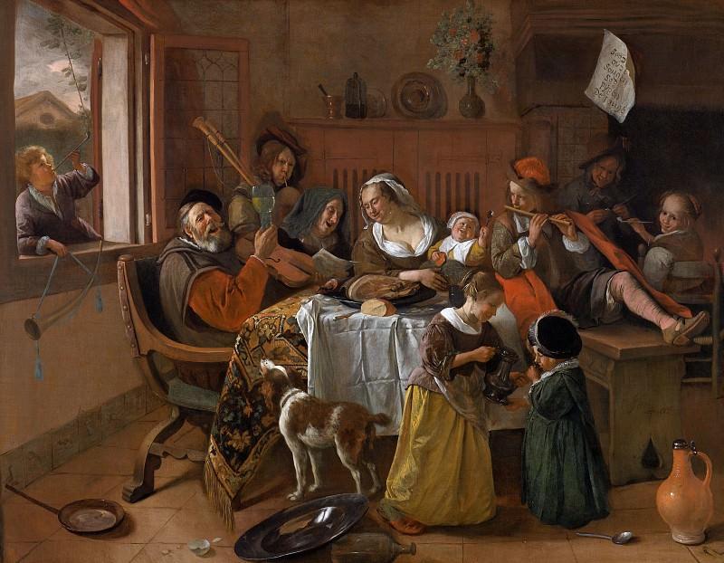 Ян Стен - Весёлая семейка. Jan Havicksz Steen (The Merry Family)
