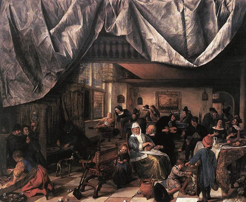 STEEN Jan The Life Of Man. Jan Havicksz Steen
