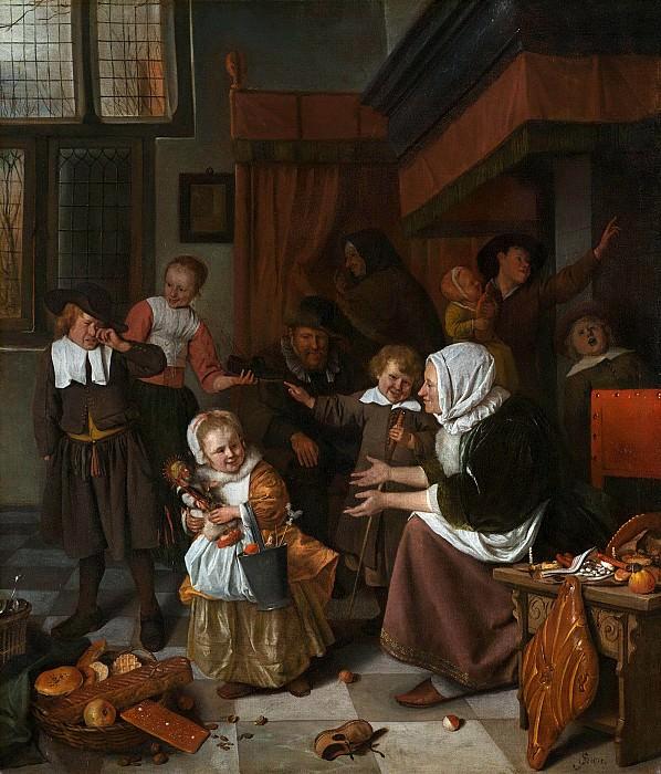 Ян Стен - Праздник Святого Николая. Jan Havicksz Steen (Jan Havicksz. Steen - The Feast of St. Nicholas)