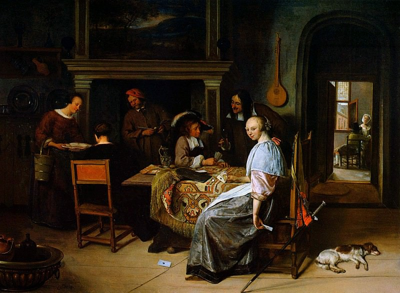 Steen Jan The card players Sun. Jan Havicksz Steen