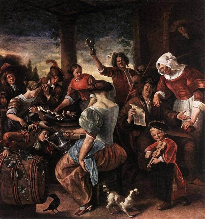 STEEN Jan A Merry Party. Jan Havicksz Steen