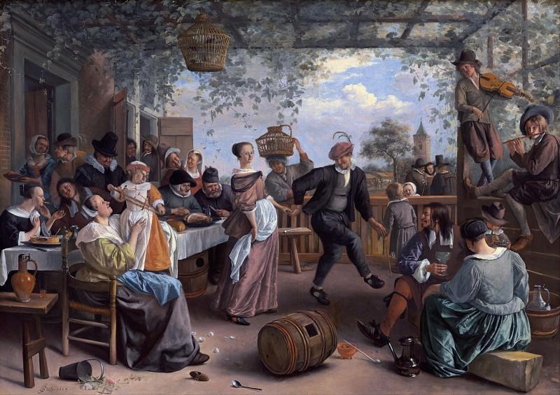 The Dancing Couple. Jan Havicksz Steen