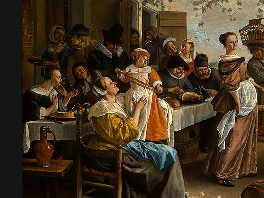 STEEN,J. THE DANCING COUPLE, DETALJ 1, 1663, NGW. Ян Стен