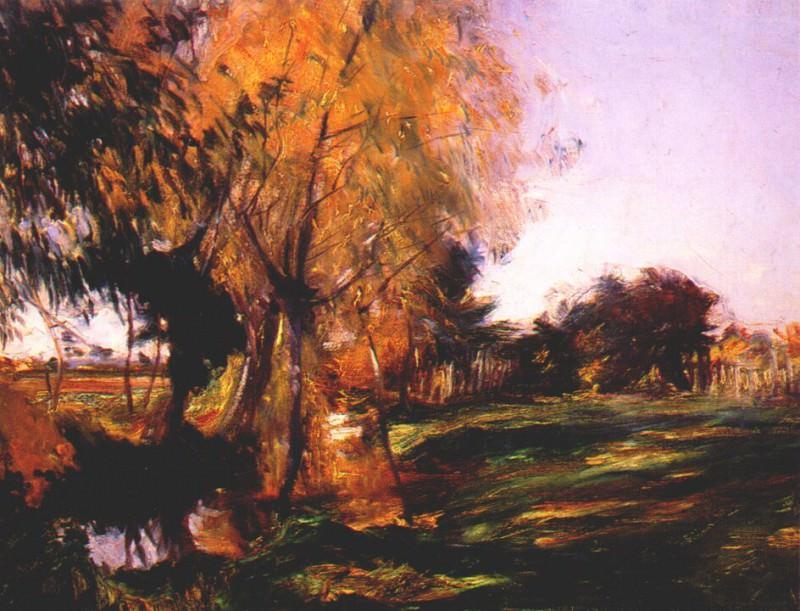 sargent landscape at broadway 1885. A Sargent