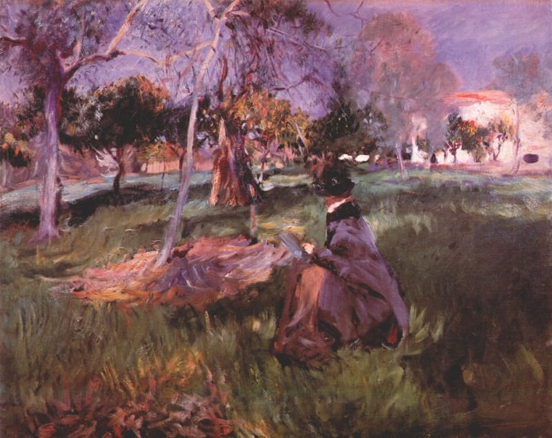 sargent in the orchard c1886. A Sargent